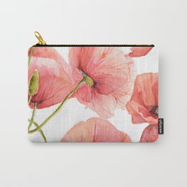 Red Poppies Bright Sunlight, Big Beautiful Red Flowers Carry-All Pouch