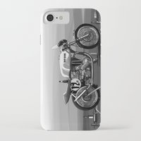 cafe racer iPhone & iPod Cases featuring Beer Savage Vintage Norton Cafe Racer by TCORNELIUS