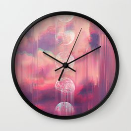 Moontime Glitches Wall Clock