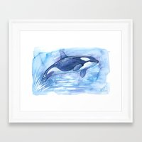orca Framed Art Prints featuring Orca by Nicole Marie Walker