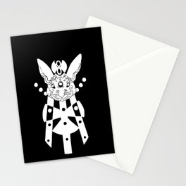 the mothership (white on black) Stationery Cards