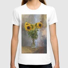 Five Sunflowers Centered T-shirt