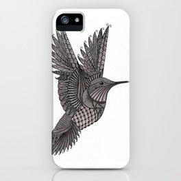 Tangled Hummingbird iPhone Case