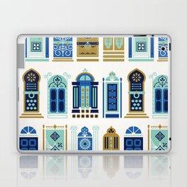 Moroccan Doors – Blue & Gold Palette Laptop & iPad Skin