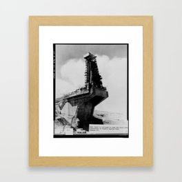 TEST STAND 1-A UTILIZED TO TEST THE ATLAS ICBM Framed Art Print