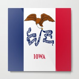 flag of Iowa, america, usa, midwest,Council Bluffs, Iowan,Des Moines,Cedar Rapids,Davenport,sioux Metal Print