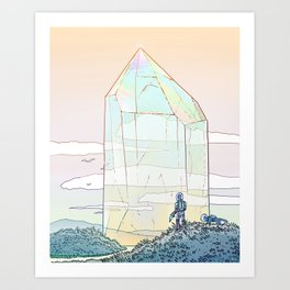 Giant Crystal 2 Art Print