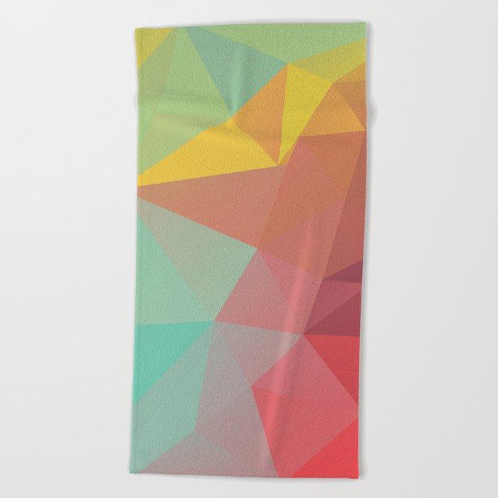 Geometric X Beach Towel