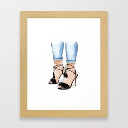 Shoe love Framed Art Print