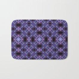 Lavender Moroccan Bohemian Tile Pattern Bath Mat