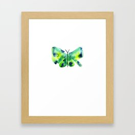 Sea Glass Butterfly Framed Art Print
