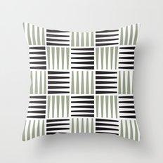 B/W crosshatch pattern Throw Pillow