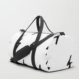 Lightning Bolt Pattern Duffle Bag
