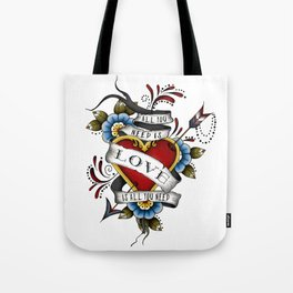 All You Need is Love - White Tote Bag