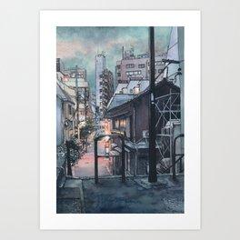 Tokyo at Night #07 Art Print