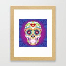 Sugar Skull Art (Luminesce) Framed Art Print