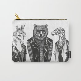Leather Jacket Unicorn-Bear-Dino-Gang Carry-All Pouch