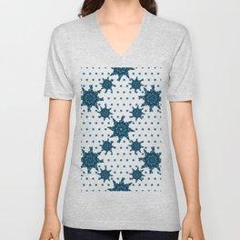 Winter Snowflakes Unisex V-Neck