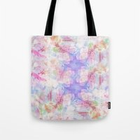 transparent Tote Bags featuring TRANSPARENT VEILS by INA FineArt