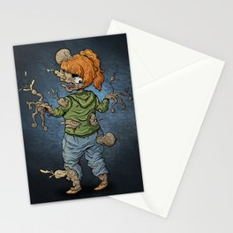 Casual Girl Parasite Zombie Stationery Cards