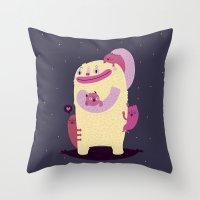mother Throw Pillows featuring Mother by Maria Jose Da Luz