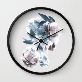 Rose Woman Wall Clock