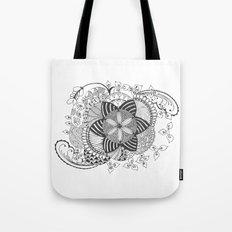 Turn black and white Tote Bag