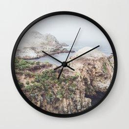Salt Flats | Misty Foggy Landscape Photography of California Ocean Coast Wall Clock