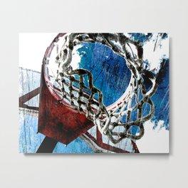 Basketball art swoosh vs 5 Metal Print
