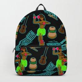 Hawaii Pattern #2 in Black Backpack