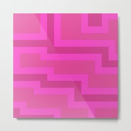 Think Pink Abstract Metal Print