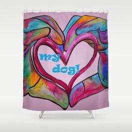I Heart my Dog Shower Curtain