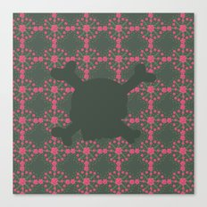 pattern with skull 2 Canvas Print