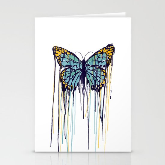 Melting Monarch (collab with Matheus Lopes) Stationery Cards