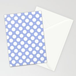 Baby Blue Octagon Pattern  Stationery Cards