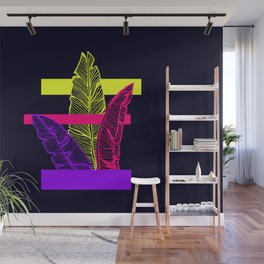 Neon Leaves #society6 #tropical Wall Mural