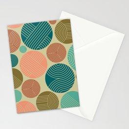 Retro Striped Pattern 11 Stationery Cards