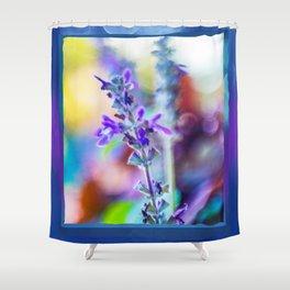 Blue Bell Wildflowers Shower Curtain