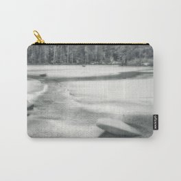 Cold as Ice frozen Castle Lake in California Carry-All Pouch