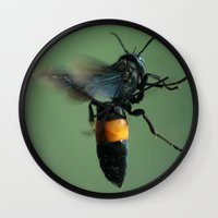 bali Wall Clocks featuring Bali Bee by Adam Latham Photography