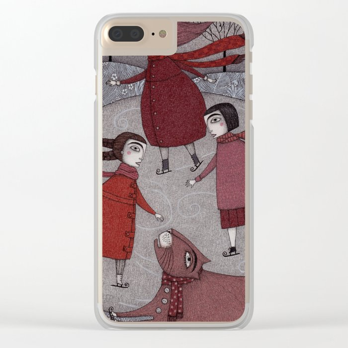 Winter Days Clear iPhone Case