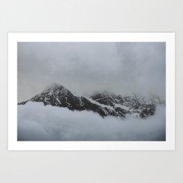 peak through the clouds Art Print