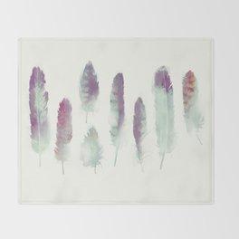Feathers // Birds of Prey Throw Blanket