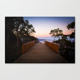 Sitting on the dock of the cliff Canvas Print