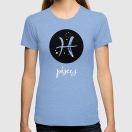 Pisces Zodiac Watercolor T-shirt