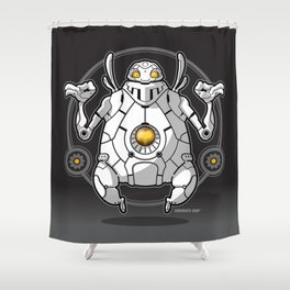 Zen Robot Shower Curtain