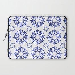 Floral ornament in dark blue Laptop Sleeve