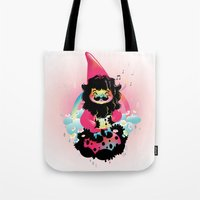 gnome Tote Bags featuring Whistling gnome by Meni Tzima