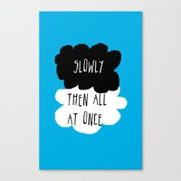 the fault in our stars Canvas Prints featuring the fault in our stars by Kathy157