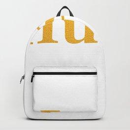 Hustle in Bold Gold Backpack